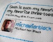 Michael Ian Black Tweet Stitch