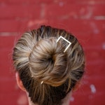 Square Brass Hair Pin
