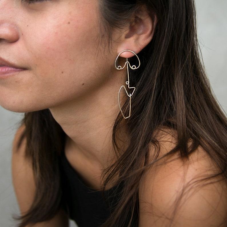Figure Jacket Earrings image 0