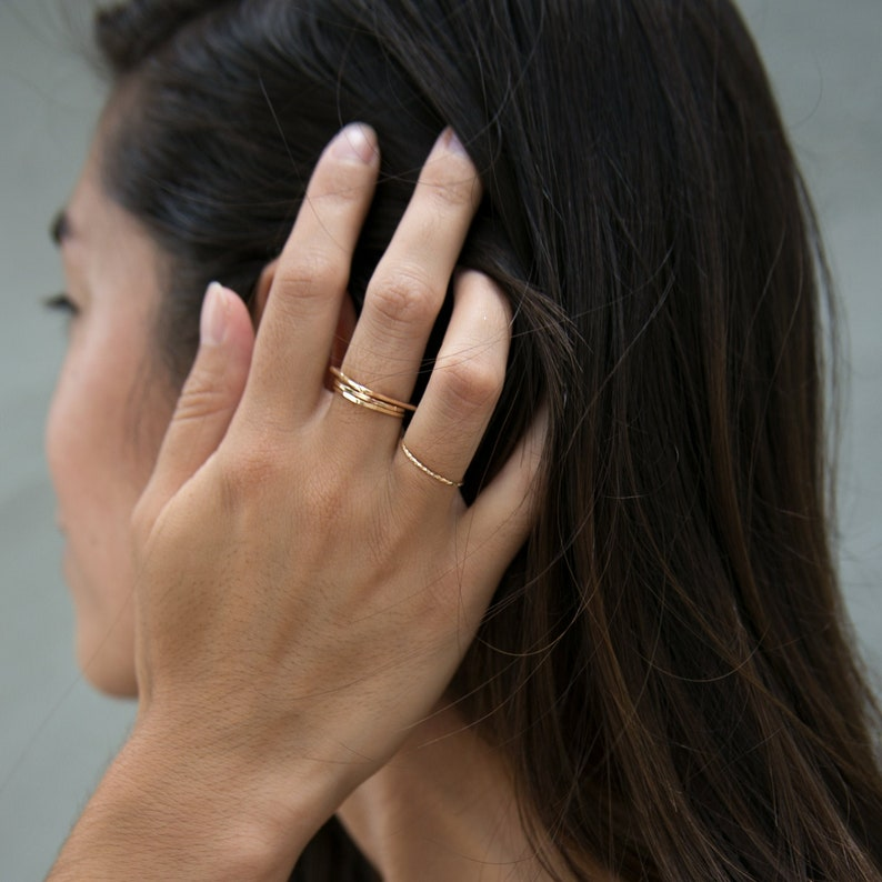 14K Gold Fill Stacking Rings available in different shapes image 0