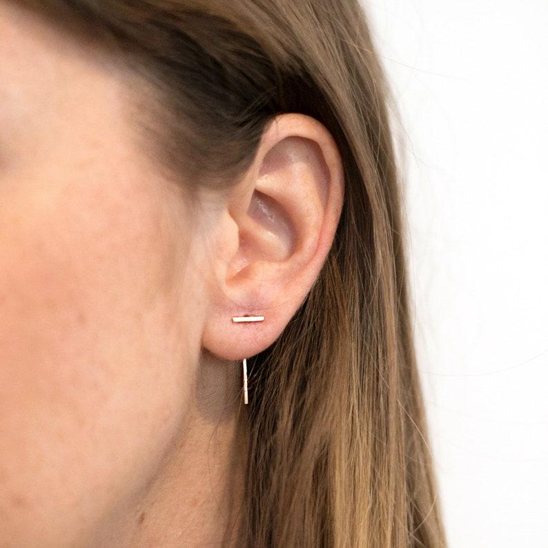 Bar Threader Earrings image 0
