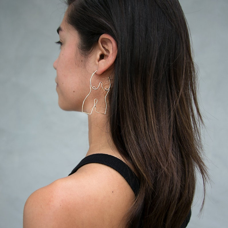 Figure Hoop Earrings Available in two sizes image 0