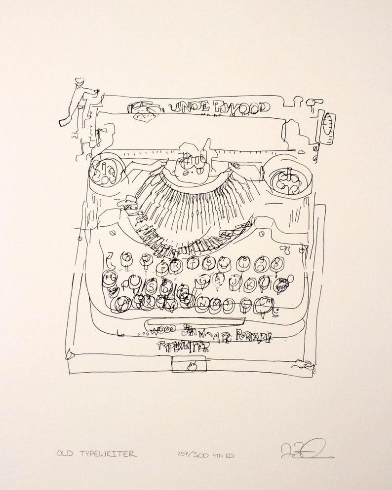 Old Typewriter print image 0