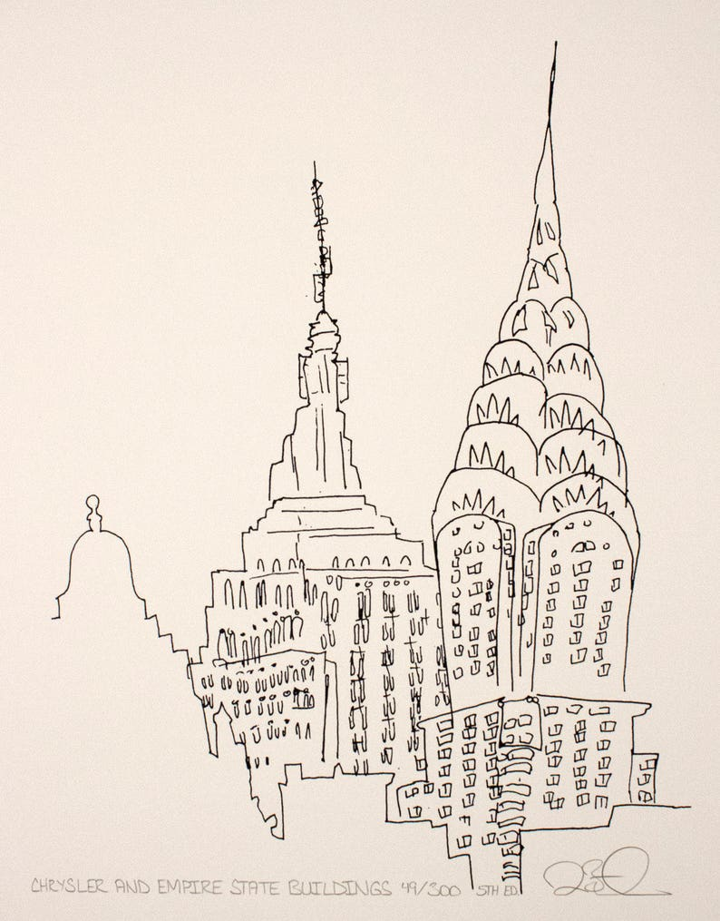 Chrysler and Empire State Buildings image 0