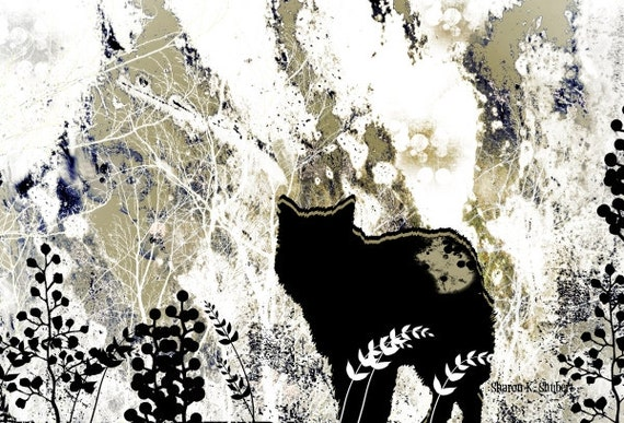 Wolf Art Woodland Animal 8 X 10 Print