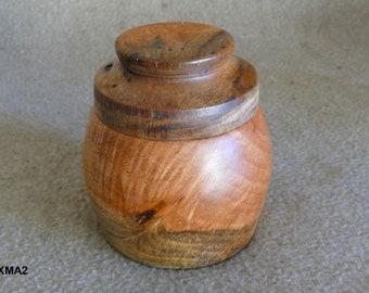 """4"""" Mahogany Salt/Spice Box"""