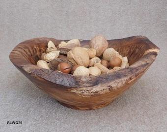 White Oak Natural Edge Display Bowl