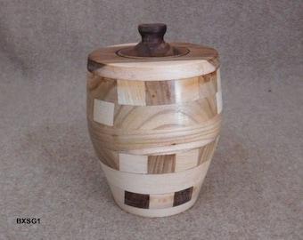 Segmented Wood Jar