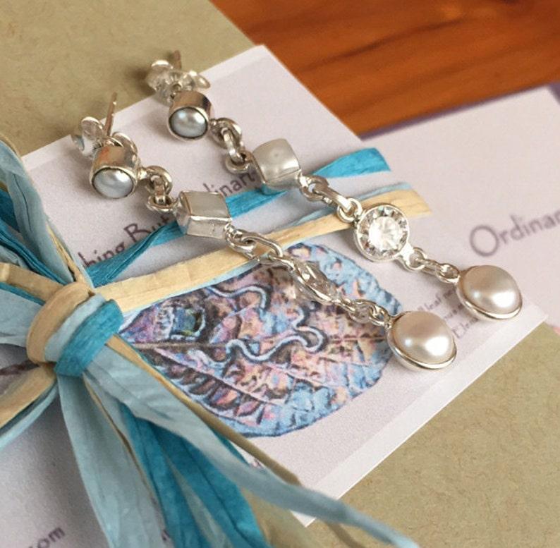 March birthstone LIME LIGHT Handmade jewelry. Teardrop gemstone earrings Brass and 14K gold filled earrings Aquamarine earrings