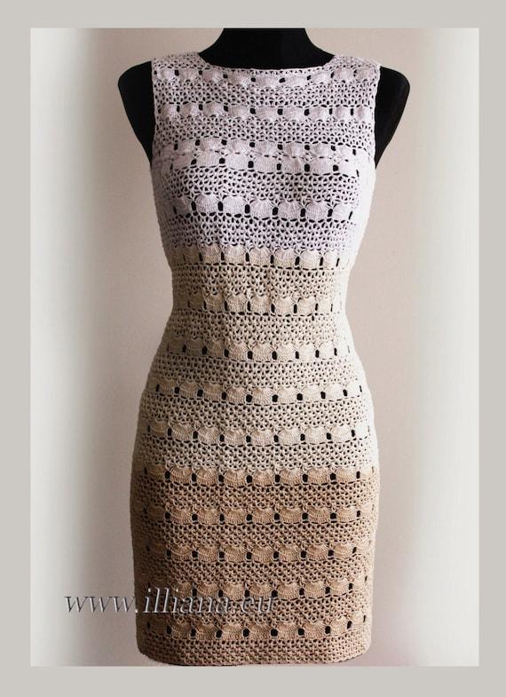 Kleid. Häkelarbeit-Muster Nr. 233 | Etsy