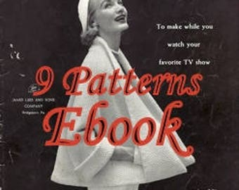 Lee's Columbia Minerva Quick Knits and Crochet and  Knitting Pattern ebook  7236004