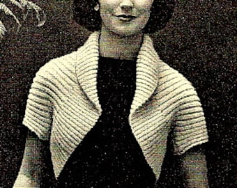 A Simple Shrug Sweater Knitting Pattern - Easy - 726002