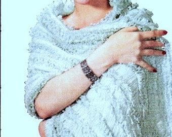 Riviera Hairpin Lace Shawl Crochet Pattern 725001