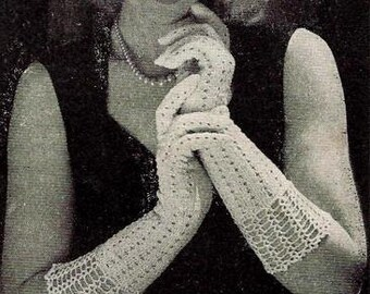 Evening Gloves Knitting Pattern 726114