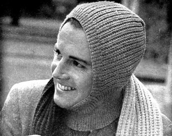 Helmet Hat Cap and Scarf Knitting Pattern 726099
