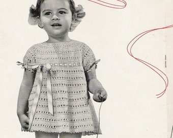 Toddler's Dress - Size 2 to 3 - Crochet Pattern Vintage 723034