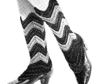 Ripple Spats Crochet Pattern 723105