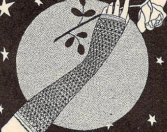 Lacy Mitts - Fingerless Gloves Crochet Pattern Vintage 723001