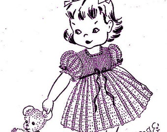 Child's Dress Crochet Pattern 723008