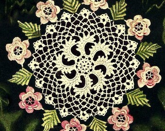 Irish Rose Doily Crochet Pattern 723143