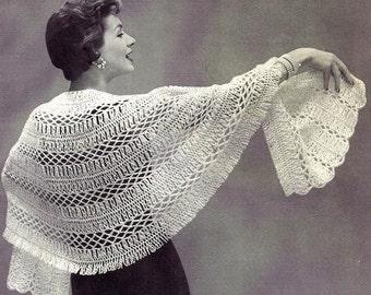 Hairpin Lace Stole Crochet Pattern 1956 725010