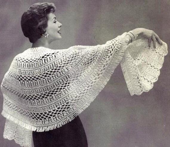 Hairpin Lace Stole Crochet Pattern 1956 725010 Etsy