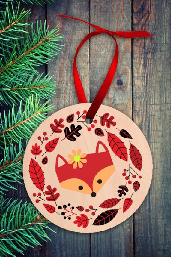 Fuchs Ornament Christbaumschmuck Holz Ornament Weihnachten Etsy