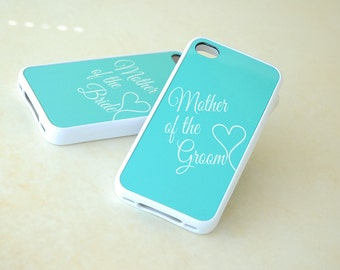Personalized Phone Case, Matching Phone Cases, iPhone 6 Case, iPhone 6+ Case, Mint Blue, Mother of the Bride, Groom, Gift for Parents