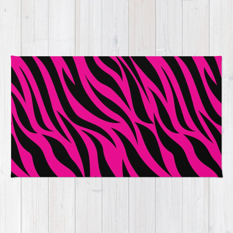 Hot Pink Zebra Rug, Zebra Print, Pink Zebra, Zebra Girls Room Decor, Zebra  Decor