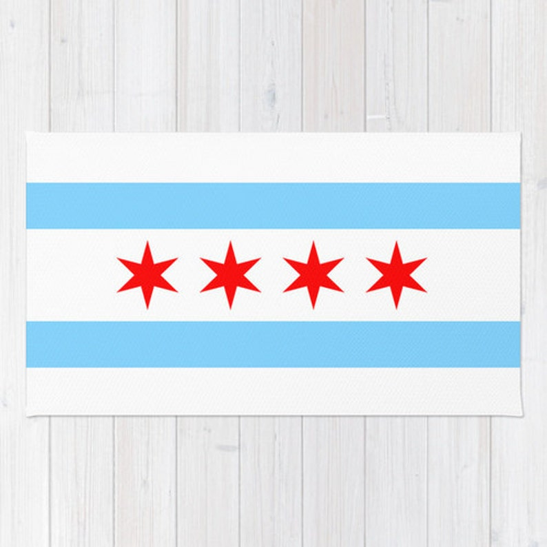Chicago Flag Floor Dywan 2x3 3x5 4x6