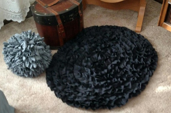 Farmhouse Rug, Livingroom Rug, Bedroom Rug, Black Kitchen Rug, Oval Area  Rug, Nursery Room Rug, Entryway Rug, Handmade Rug lol, Black Rug