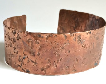 Hammered Copper Cuff Bracelet - Free Domestic Shipping