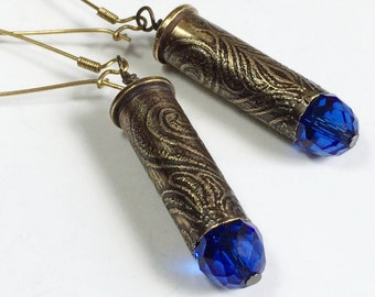 Etched Bullet Casing Earrings - Free Domestic Shipping