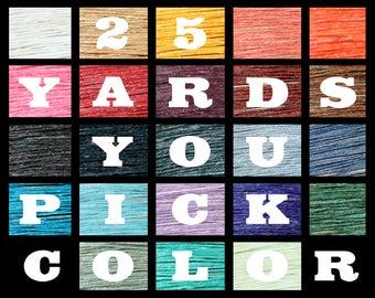 TWENTY-FIVE yards-o-thread YOU pick color