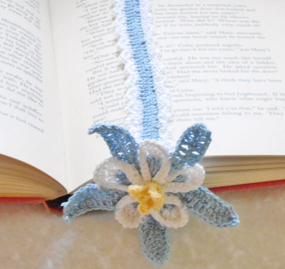 Columbine Floral And Gifts: Columbine Bookmark Thread Crochet Pattern Floral Bookmark