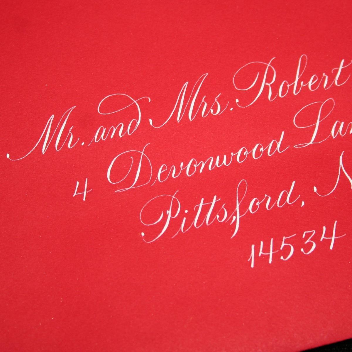 Calligraphy Envelope Addressing Copperplate Wedding   Etsy