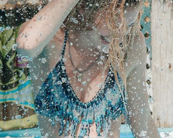 "Limited Edition: ""Frita"" fringe bikini top (Small / 6)"