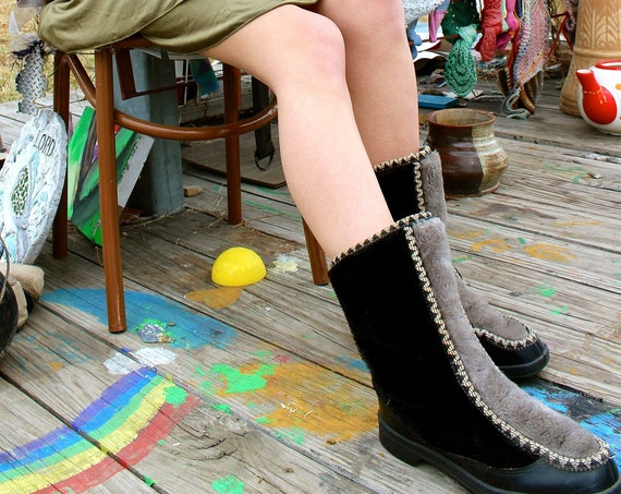 I Feel the Earth Move vintage booties.