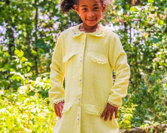 Cecilia vintage tweed girls dress