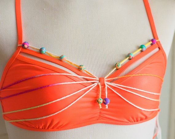 Limited Edition: Electric Coral bikini top (Small / 6)