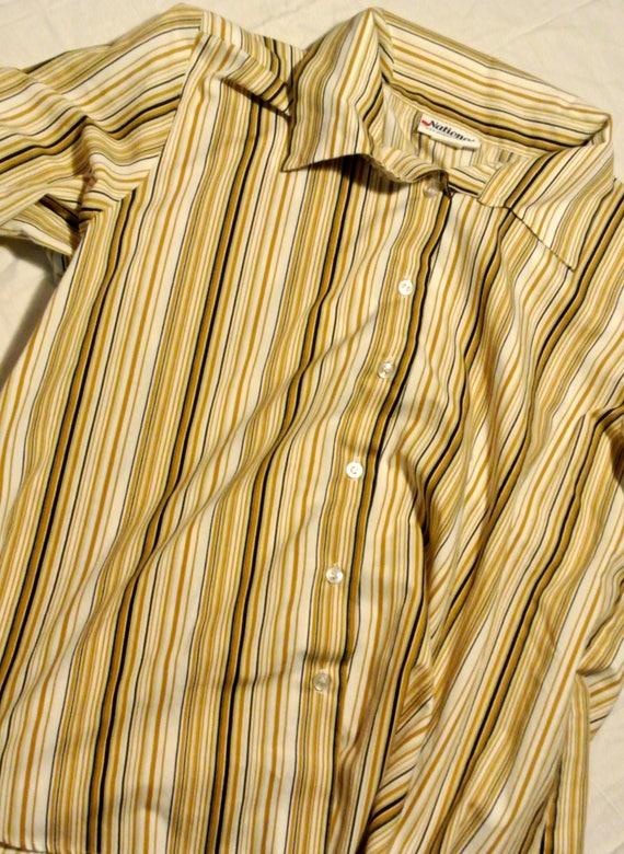 I'm a Woman vintage striped blouse
