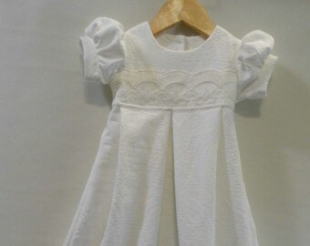 Megan gown,Infant gown, French embroidered, cotton lace gown, Christening gown, Baptism gown, Blessing gown, Dedication gown, baby dress