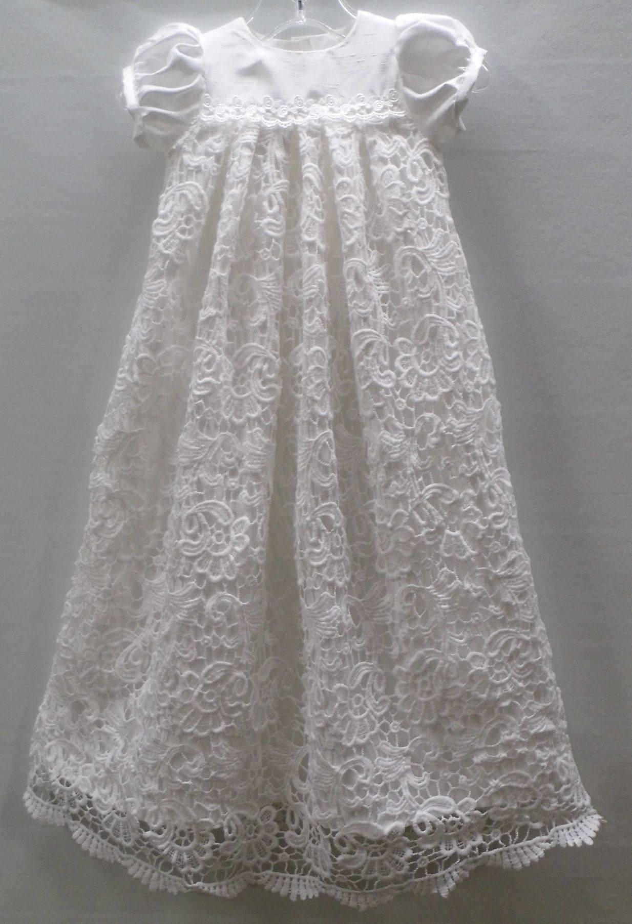 Olivia-Kleid Shantung Kleid Venedig Spitzenkleid Säugling