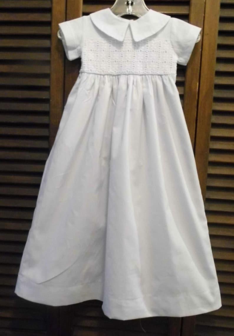 1baa214ca70 Robe unisexe coton pour bébé robe de baptême robe de