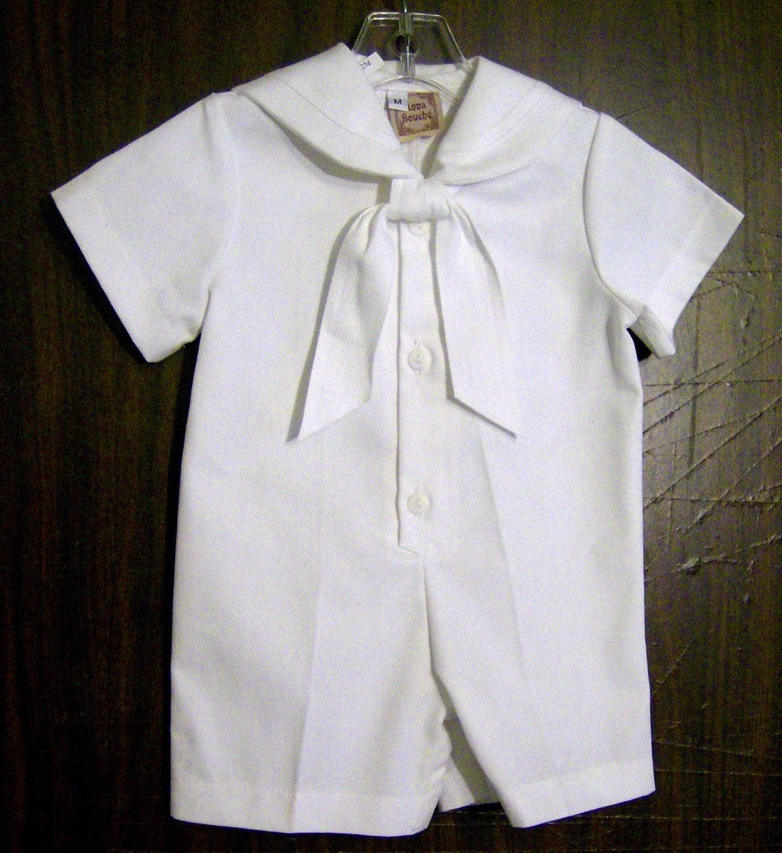 Benjamin Infant boys suit white nautical suit Christening | Etsy