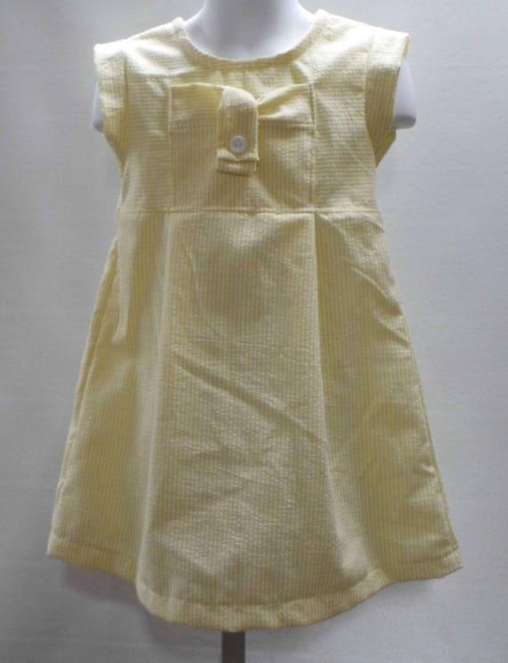 19f4cd4a4 Yellow girl dress seersucker girls dressEaster girl dress