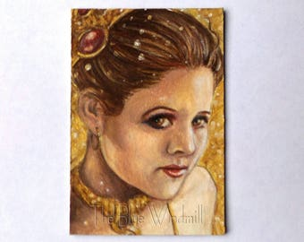 Princess Leia ACEO Card