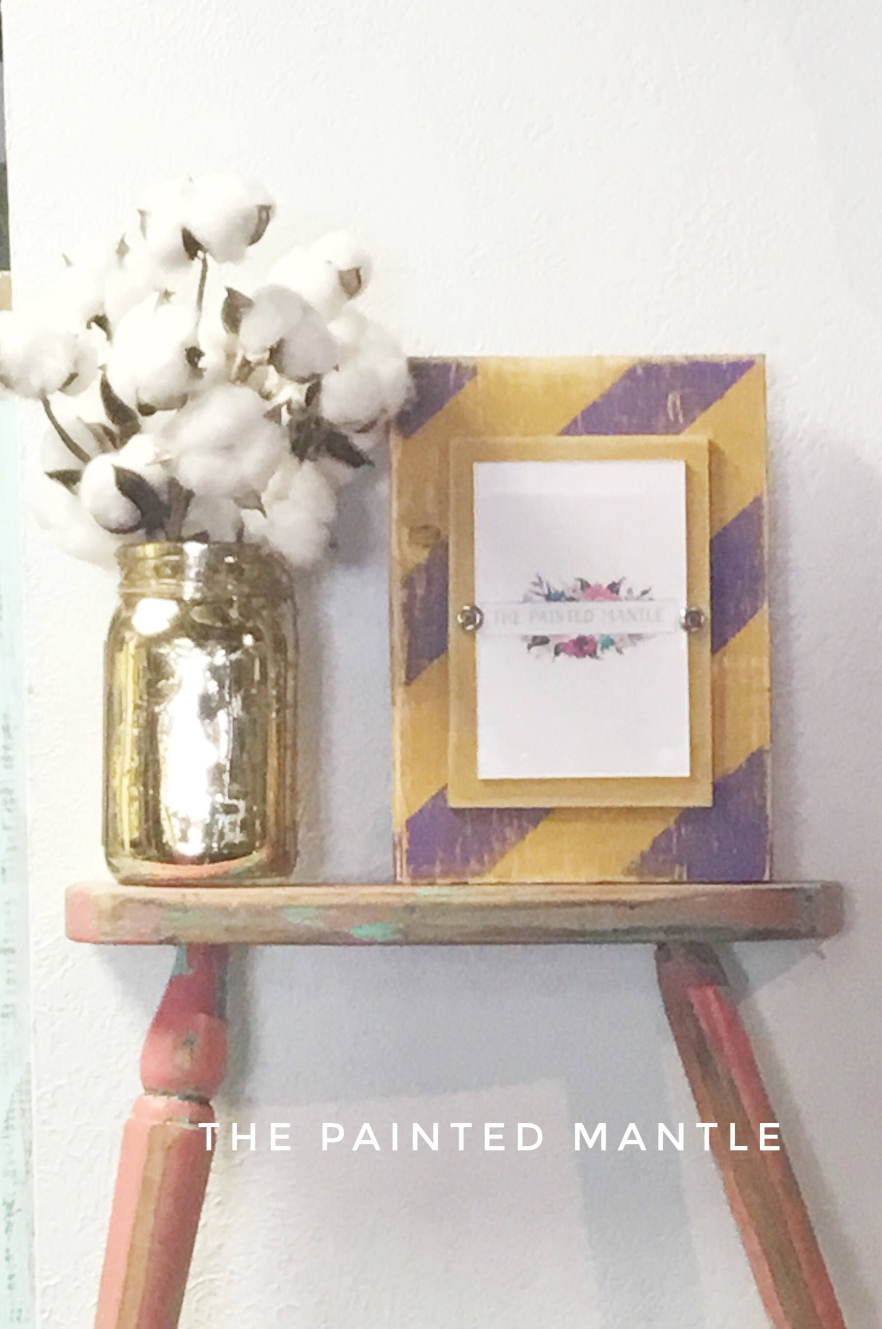 Rustic Frame -Purple and Gold Frame - Photo Frame - LSU - Wood ...