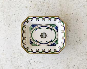 Vintage Dish   DIOR Porcelain Arcadior Trinket Catch-all Dish 90's Home Decor