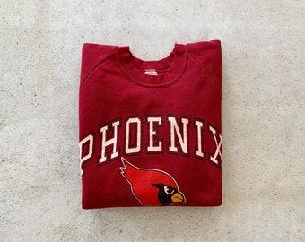 Vintage Sweatshirt | PHOENIX CARDINALS Baseball Raglan Pullover Jumper 80's 90's Red | Size M